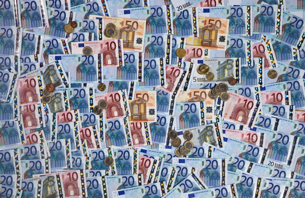Wallpaper of European Union Currency - the Euro — Stock Photo #16928515