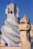 高迪烟囱-巴塞罗那-西班牙 — 图库照片