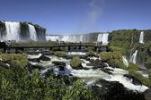 Iguassu Falls on the Brazil Argentina border — Stock Photo