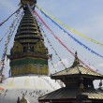 Swayambhunath Stupa in Kathmandu. Nepal — Stock Photo