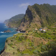 Stock Photo: Village of Boaventura & Arco de Sao Jorge - Madeira