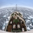 Sea ice off the coast of Spitsbergen - Stock Photo