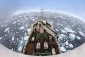 Mar de gelo fora da costa de spitsbergen — Foto Stock