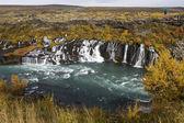 Hraunfossar Waterfalls - Iceland — Stock Photo