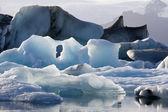 Glaciärlagunen - island — Stockfoto