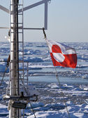 Flag of Greenland — Stock Photo