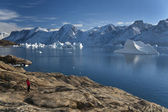 Northwest Fjord in Scoresbysund - Greenland — Stock Photo