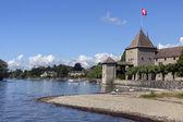 Rolle castello - lago di ginevra - svizzera — Foto Stock