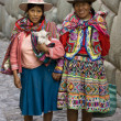 Stock Photo: Local women - Hatumrumiyoc IncWall - Cuzco - Peru
