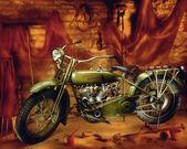 ビンテージ ハーレー デビッドソン オートバイ — ストック写真