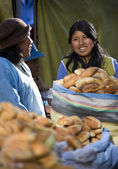 Local women - La Paz - Bolivia — Stock Photo