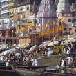 Stock Photo: Varanasi Hindu Ghats - India