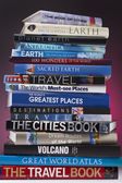 Travel Books - Worldwide — Stock Photo