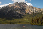 Pyramid Lake - Jasper National Park - Canada — Stock Photo