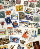 20th Century Polish Postage Stamps — Stock Photo