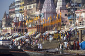 Varanasi Hindu Ghats - India — Stock Photo