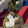Tuba player - Presidential Band - Santiago - Chile — Stock Photo