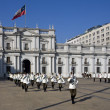 Changing the guard at the Presidential Palace in Santiago - Chil — Stock Photo