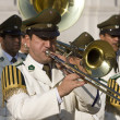 Stock Photo: Presidential Band at Presidential Palace in Santiago in cent
