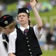 Drummer in a pipe band  - Scotland - Stock Photo