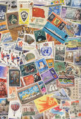 World Postage Stamps - Stamp Collecting — Stock Photo