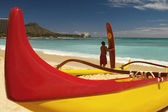 Waikiki Beach - Honolulu - Hawaii — Stock Photo