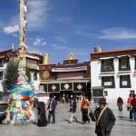 tibet - lhasa - templo de Jokhang — Foto de Stock