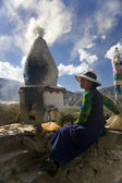 Buddhist Shrine - Tibet — Stock Photo