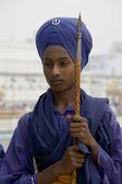 Sikh vakt - amritsar - indien — Stockfoto