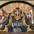 Stock Photo: Old Knights of MaltWall Plaque - Malta