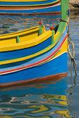 Barca da pesca luzzu - malta — Foto Stock