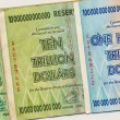 Banknotes of Zimbabwe - One Hundred Trillion Dollars — Foto Stock