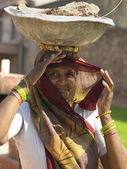Indian Woman - Fatehpur Sikri — Stock Photo