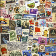 Stock Photo: International Postage Stamps