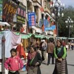 el Tíbet barkhor - lhasa- — Foto de Stock