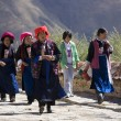 Stock Photo: TibetWomen - Ganden Monastary - Tibet
