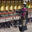 Stock Photo: Tibet - Prayer Wheels - Gyantse Kumbum