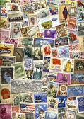 International Postage Stamps — Stock Photo
