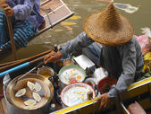 Floating Market - Thailand — Stock Photo