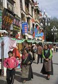 Tibets barkhor - lhasa — Stockfoto