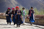 Tibetan Women - Ganden Monastary - Tibet — Stock Photo