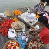 River Ganges - Varanasi - India — Stock Photo