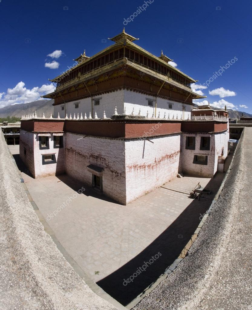 The Samye Buddhist Monastery complex in Tibet Autonomous Region of China.  Stock Photo #17354889