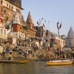 Hindu Ghats - Varanasi - India — Stock Photo #17363393