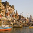 Stock Photo: Hindu Ghats - Varanasi - India