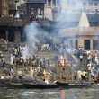 Stock Photo: Hindu Cremation Ghats - Varanasi - India