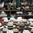 Panama Hats - Cuenca - Ecuador - Stock Photo