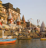 Hindu Ghats - Varanasi - India — Stock Photo