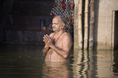 Hindu Ghats - River Ganges - Varanasi - India — Stock Photo