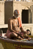 Varanasi Hindu Ghats - India — Stock Photo